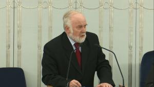 Senator Kazimierz Wiatr Senat przyjął ustawę o prokuraturze fot. ŚWIECZAK