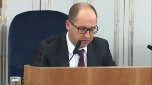 Adam Bielan Wicemarszałek Senatu Senat przyjął ustawę o prokuraturze fot. ŚWIECZAK