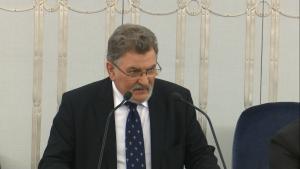 Senator Zbigniew Cichoń Senat przyjął ustawę o prokuraturze fot. ŚWIECZAK