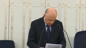 Senator Marek Borowski Senat przyjął ustawę o prokuraturze fot. ŚWIECZAK
