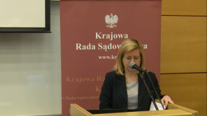 """dr hab. Anna Machnikowska, prof. UG Konferencja """"Granice niezawisłości sędziów i niezależności sądów?"""" fot. ŚWIECZAK"""