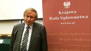 """dr hab.Ryszard Piotrowski Konferencja """"Granice niezawisłości sędziów i niezależności sądów?"""" fot. ŚWIECZAK"""