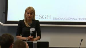 dr Dorota Ciesielska-Maciągowska Konferencja naukowa SGH - Umiędzynarodowienie polskich przedsiębiorstw. fot. ŚWIECZAK