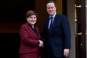 Spotkanie premier Beaty Szydło z premierem Davidem Cameronem fot. ŚWIECZAK