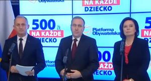 """Platforma Obywatelska o programie """"Rodzina 500+"""" fot. ŚWIECZAK"""