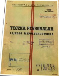 """IPN udostępnił akta TW """"Bolka"""" fot. ŚWIECZAK"""