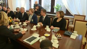 Przewodniczący Bundesratu Stanisław Tillich z wizytą w Senacie fot. ŚWIECZAK