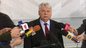 Bogdan Borusewicz po spotkaniu z członkami Komisji Weneckiej fot. ŚWIECZAK