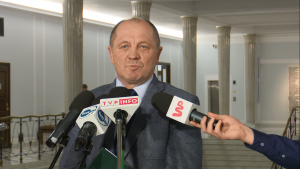 Marek Sawicki po spotkaniu z członkami Komisji Weneckiej fot. ŚWIECZAK