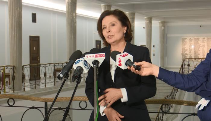 Małgorzata Kidawa-Błońska po spotkaniu z członkami Komisji Weneckiej fot. ŚWIECZAK
