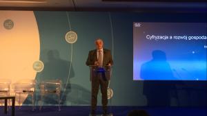 """Dariusz Fabiszewski Dyrektor Generalny Cisco Konferencja """"Rzeczpospolita Cyfrowa – Sprawne państwo i nowoczesna gospodarka"""" fot. ŚWIECZAK"""