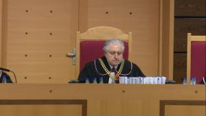 prof.Andrzeja Rzeplińskiego Prezesa Trybunału Konstytucyjnego Trybunał Konstytucyjny ogłosił wyrok w sprawie nowelizacji ustawy o TK autorstwa PiS: niezgodna z konstytucją fot. ŚWIECZAK