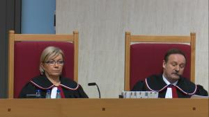 Julia Przyłębska Piotr Pszczółkowski Trybunał Konstytucyjny ogłosił wyrok w sprawie nowelizacji ustawy o TK autorstwa PiS: niezgodna z konstytucją fot. ŚWIECZAK