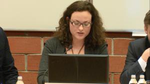 Dr Maria Nowak, XVII Konferencja Wydziałowa pt.: ŹRÓDŁA PRAWA. TEORIA I PRAKTYKA fot. ŚWIECZAK