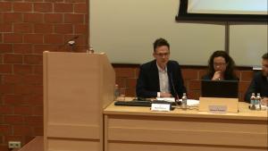 Dr Piotr Pomianowski, XVII Konferencja Wydziałowa pt.: ŹRÓDŁA PRAWA. TEORIA I PRAKTYKA fot. ŚWIECZAK