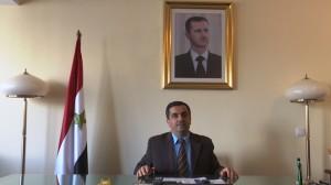 """Idris Mayya,Charge d`Affaires Ambasador Syrii Sympozjum pt.: """" Ręka w rękę zbudujemy Syrię jutra"""" fot. ŚWIECZAK"""