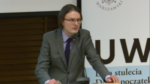 mgr Filip Ludwin, doktorant, Sąd konstytucyjny w państwie demokratycznym fot. ŚWIECZAK
