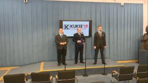 Konferencja prasowa - Kukiz'15 w sprawie wsparcia dla rodzin z niepełnosprawnymi dziećmi fot. ŚWIECZAK