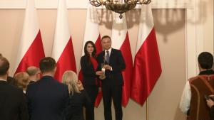Prezydent RP Andrzej Duda laureatem nagrody Ruchu Społecznego im. Prezydenta RP Lecha Kaczyńskiego fot. ŚWIECZAK
