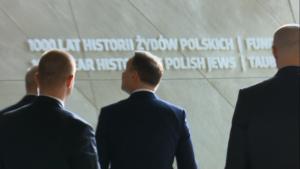 Wizyta prezydenta Andrzeja Dudy w Muzeum Historii Żydów Polskich POLIN fot. ŚWIECZAK