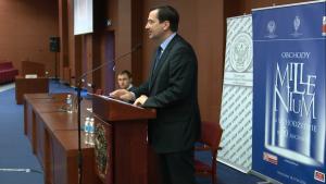 dr hab.Konrad Bialecki IPN Konferencja w UKSW pt: Obchody milenium na uchodźstwie – w pięćdziesiątą rocznicę fot. ŚWIECZAK