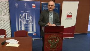 ks.dr hab. Dominik Zamiatała, Konferencja w UKSW pt: Obchody milenium na uchodźstwie – w pięćdziesiątą rocznicę fot. ŚWIECZAK