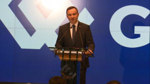 Andrzej Duda Prezydent RP 25-lecie Giełdy Papierów Wartościowych  Warszawie fot. ŚWIECZAK