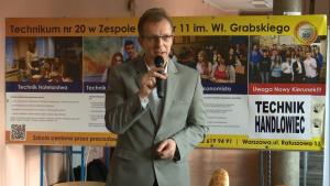 Jan Grądzki Dyrektor Zespołu Szkół im. Wł. Grabskiego Konferencja prasowa III FESTIWALU CHLEBÓW ŚWIATA fot. ŚWIECZAK