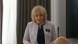 Maria Koc Wicemarszałek Senatu Konferencja z okazji 75. rocznicy pierwszego zrzutu cichociemnych do Polski fot. ŚWIECZAK