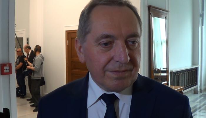 Wywiad z Ministrem Henrykiem Kowalczykiem po głosowaniu nad uchwałą o suwerenności Polski fot. ŚWIECZAK