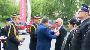 """Obchody """"Dnia Strażaka"""" w Szkole Głównej Służby Pożarniczej w Warszawie fot. ŚWIECZAK"""