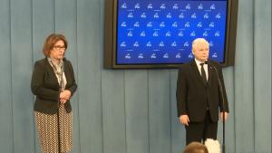 Jarosław Kaczyński po spotkaniu w sprawie TK fot. ŚWIECZAK