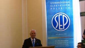 dr inż. Piotr Szymczak, Prezes Stowarzyszenia Elektryków Polskich XVII Konferencja Okrągłego Stołu fot. ŚWIECZAK