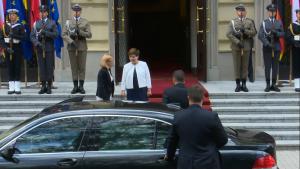 Spotkanie premier Beaty Szydło z prezydentem Niemiec Joachimem Gauckiem fot. ŚWIECZAK