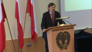 dr Jerzy Targalski Uroczyste otwarcie Centrum Badań nad Bezpieczeństwem fot. ŚWIECZAK