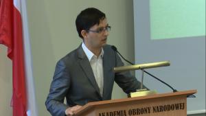 dr Krzysztof Iwanek Uroczyste otwarcie Centrum Badań nad Bezpieczeństwem fot. ŚWIECZAK