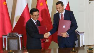 Ceremonia podpisania dokumentów z udziałem prezydentów Polski i Chin fot. ŚWIECZAK