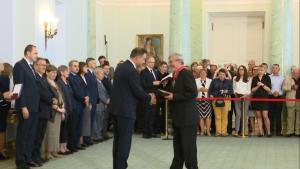 Prezydent przyznał Ordery Odrodzenia Polski działaczom opozycji demokratycznej fot. ŚWIECZAK