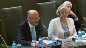"""prof. Koen Lenaerts, Prezes Trybunału Sprawiedliwości Unii Europejskiej; Debata pt.""""Sytuacja sądownictwa w Polsce i Europie"""" fot. ŚWIECZAK"""