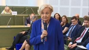"""prof. Ewa Łętowska Debata pt.""""Sytuacja sądownictwa w Polsce i Europie"""" fot. ŚWIECZAK"""