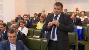 """sędzia Waldemar Żurek Debata pt.""""Sytuacja sądownictwa w Polsce i Europie"""" fot. ŚWIECZAK"""
