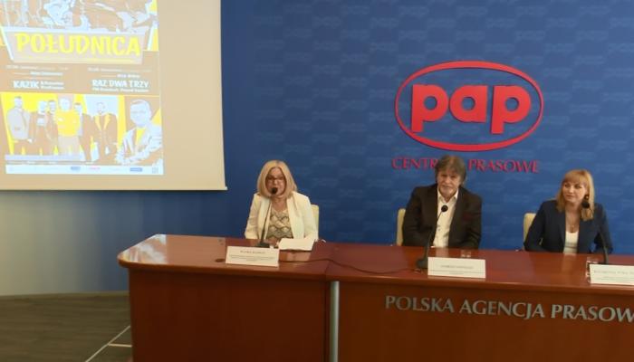"""Konferencja prasowa - Festiwal Polskiej Piosenki im. Kazimierza Grześkowiaka pn. """"Południca"""" fot. ŚWIECZAK"""