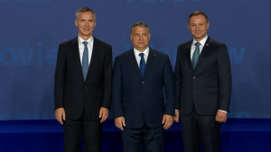 Oficjalne powitanie przez Prezydenta RP i Sekretarza Generalnego NATO Szefów Państw i Rządów fot. ŚWIECZAK