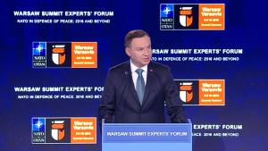 Andrzej Duda Prezydent RP Warsaw Summit Expret`s Forum fot. ŚWIECZAK
