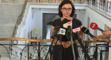 Kamila Gasiuk-Pihowicz podsumowała przebieg komisji sprawiedliwości 20 lipca fot. ŚWIECZAK