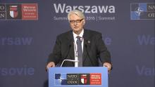 Konferencja prasowa MSZ Witolda Waszczykowskiego przed Szczytem NATO fot. ŚWIECZAK