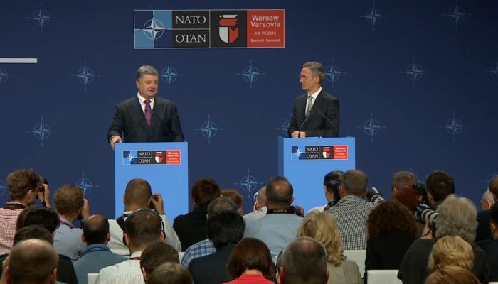 Konferencja prasowa sekretarza generalnego NATO  Jens Stoltenberg i prezydenta Ukrainy J.E.  Petra Poroszenki fot. ŚWIECZAK