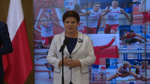 Premier Beata Szydło Medaliści ME w lekkoatletyce u premier Szydło fot. ŚWIECZAK