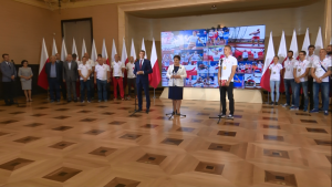 Medaliści ME w lekkoatletyce u premier Szydło fot. ŚWIECZAK