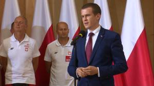 Witold Bańka Minister Sportu i Turystyki Medaliści ME w lekkoatletyce u premier Szydło fot. ŚWIECZAK